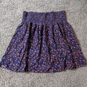 Mossimo Supply Co. Floral Mini Skirt